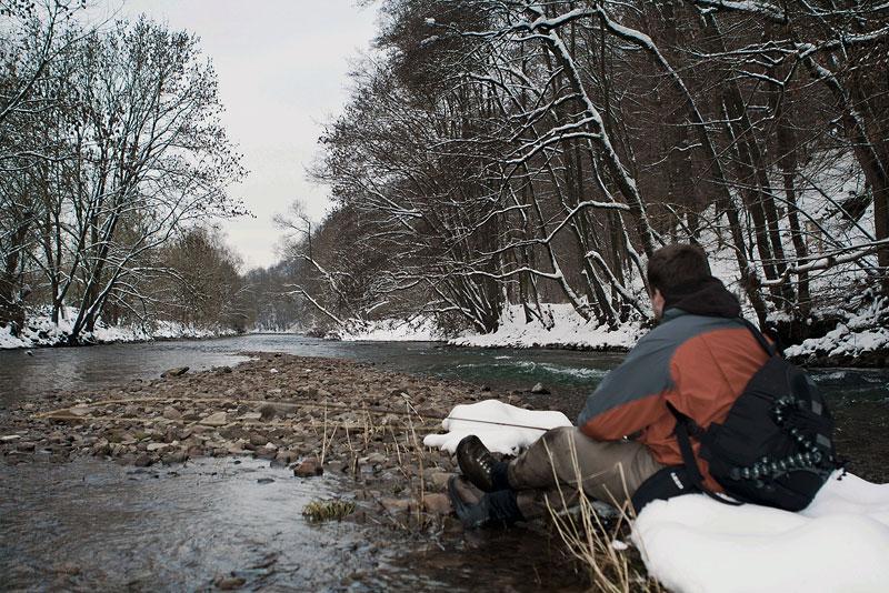 Fischen im Winter