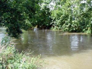 Agger bei Hochwasser